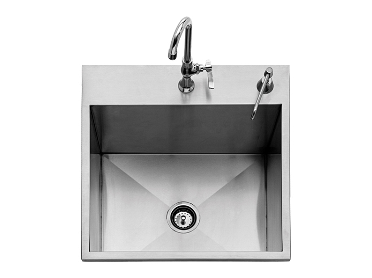twin eagles 24 inch outdoor sink w faucet soap dispenser