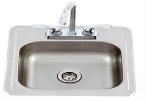 Lion Stainless Bar Sink w/ Faucet For Your Outdoor Kitchen