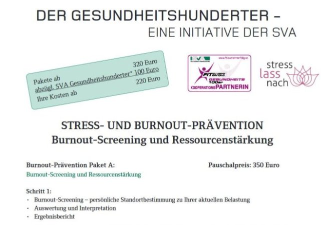 Formular SVA Stress-und Burnout-Praevention