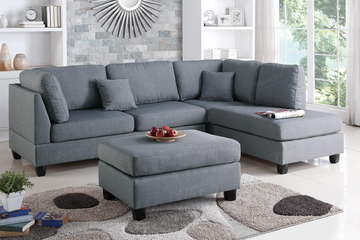 sectional sofa w ottoman f7606