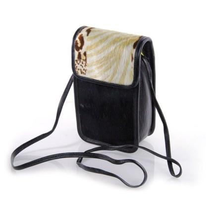 B-3752 BB Simon Black Italian Leather Mini Handbag