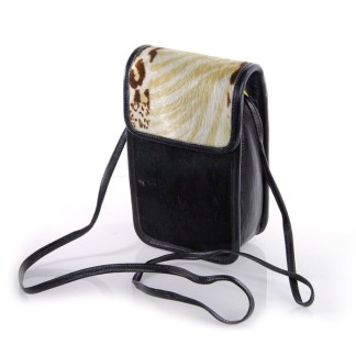 B-3752 BB Simon Black Italian Leather Mini Handbag