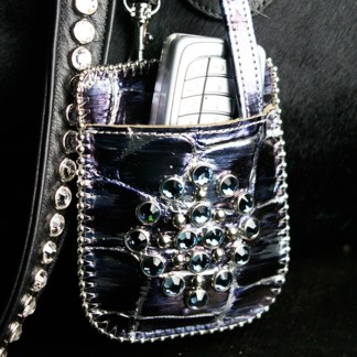 B.B.SIMON T10-J95-SAPPHIRE Swarovski Diamond Phone Case Holder