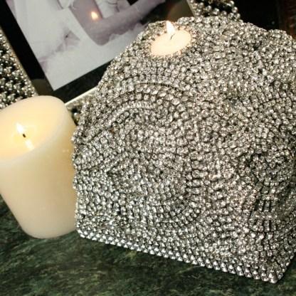CDH-232 bb Simon Swarovski crystal Candle holder