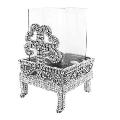 CDH-254-Clear- S  bb Simon Swarovski crystal Candle holder