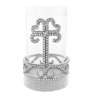 CDH-255-Clear- L  bb Simon Swarovski crystal Candle holder