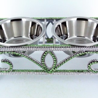 Crystal-Peridot B.B.SIMON DOG CAT PET BOWL  DWB-103-S Cat Pet