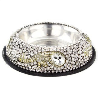 DWB-105 CLEAR b.b.simon Dog Cat Pet Bowl