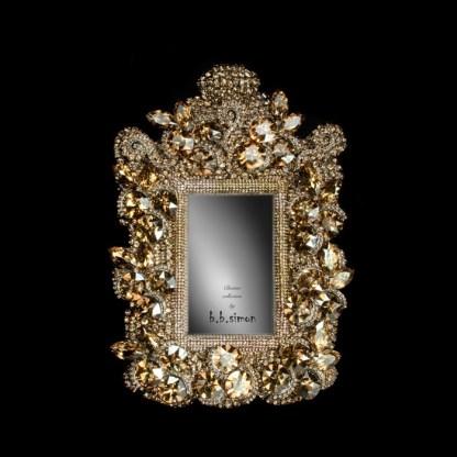 F-101-GOLD-S bb Simon Swarovski crystal frame