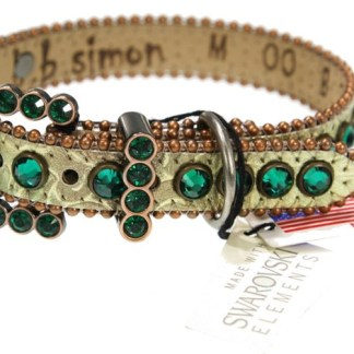 LOLA-DOG COLLAR CRYSTAL EMERALD