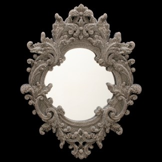 M-203-7 BB Simon Black Diamond Swarovski Mirror