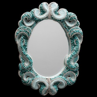 M-520 BB Simon Blue Crystal Mirror