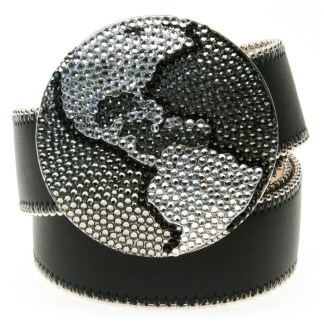 Planet Earth JET BLACK DIAMOND & CLEAR B.B.SIMON BELT