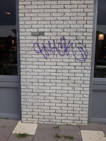 Graffiti verwijderd