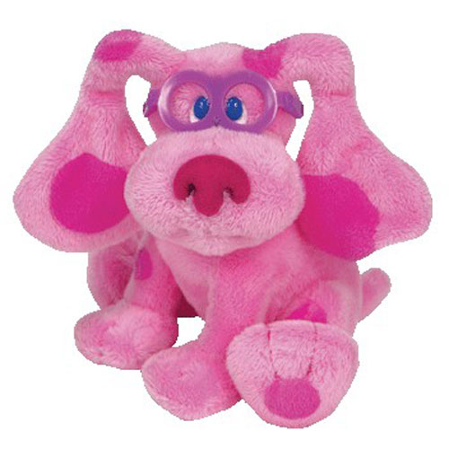 TY Beanie Baby MAGENTA The Dog Nick Jr Blues Clues