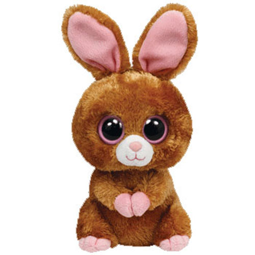 TY Beanie Boos HOPSON The Brown Bunny Solid Eye Color