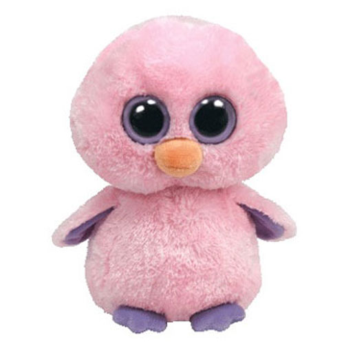 ty beanie boos posy the pink chick solid eye color regular size