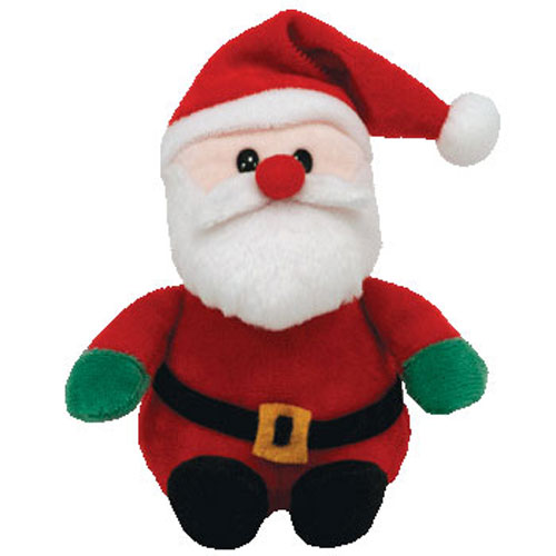 TY Jingle Beanie Baby SANTA Newer Version 5 Inch