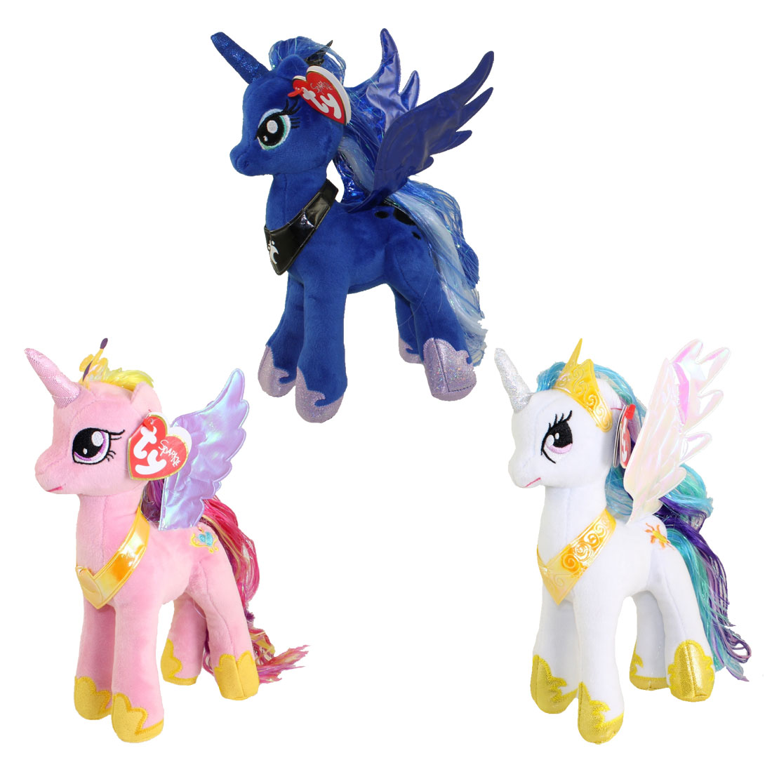 TY Beanie Babies My Little Pony SET Of 3 PRINCESS