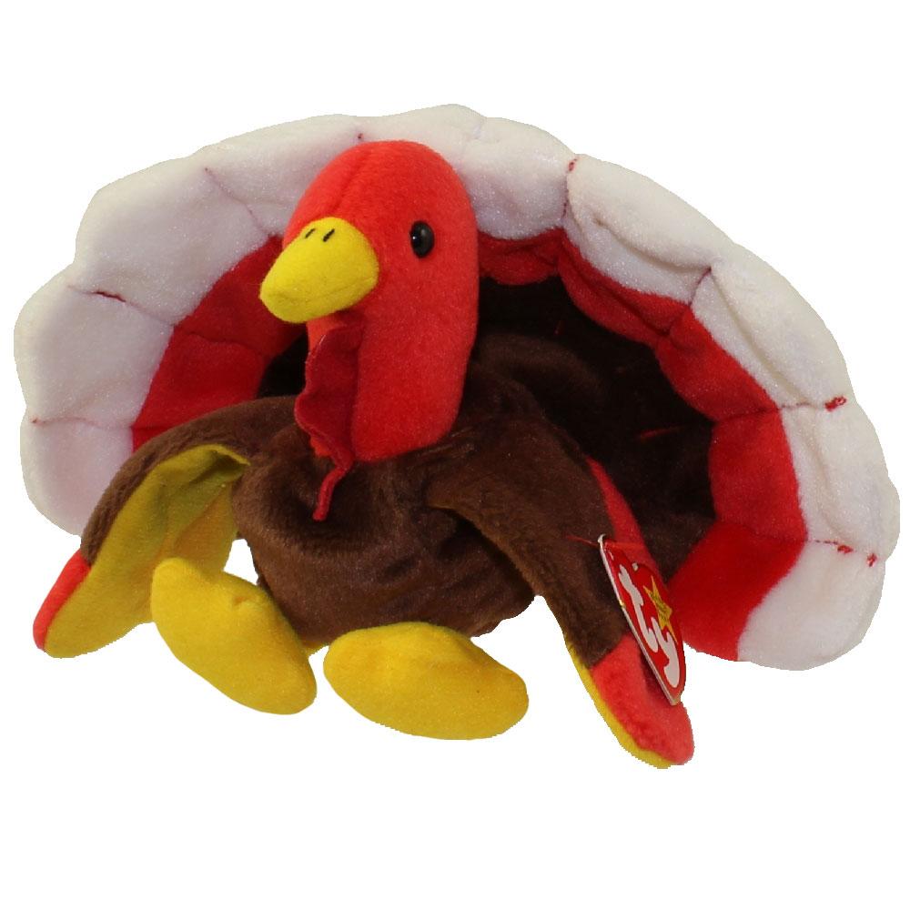 TY Beanie Baby GOBBLES The Turkey 55 Inch BBToyStore