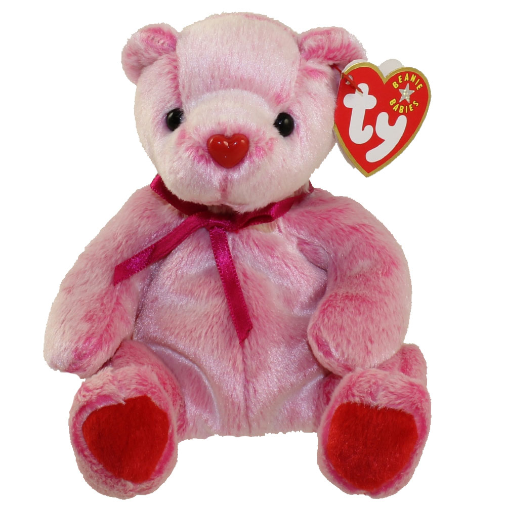 TY Beanie Baby ROMANCE The Valentines Day Bear 7 Inch