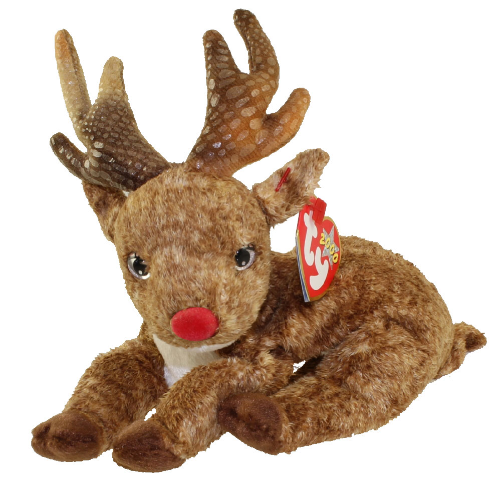 TY Beanie Baby ROXIE The Reindeer Red Nose 75 Inch