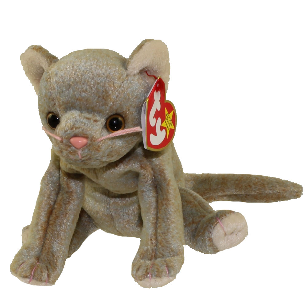 TY Beanie Baby SCAT The Cat 55 Inch Toys Plush Trading Cards Action