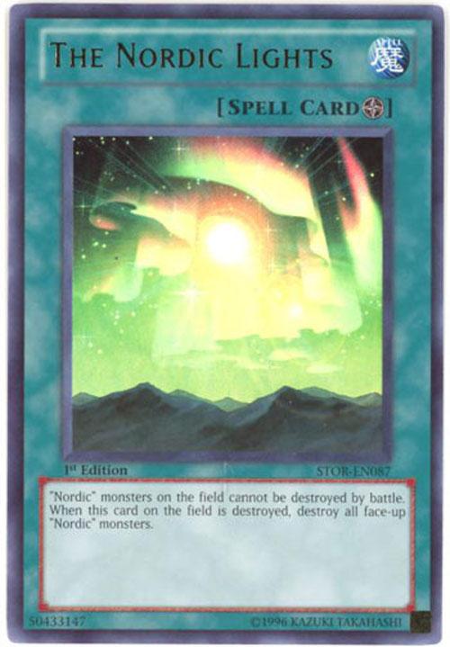 Yu Gi Oh Card STOR EN087 THE NORDIC LIGHTS Ultra Rare