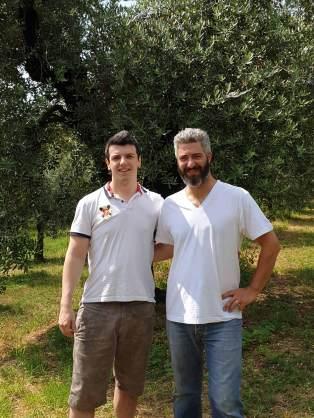 Da sinistra: Mattia Apostoli con Simon Albanese