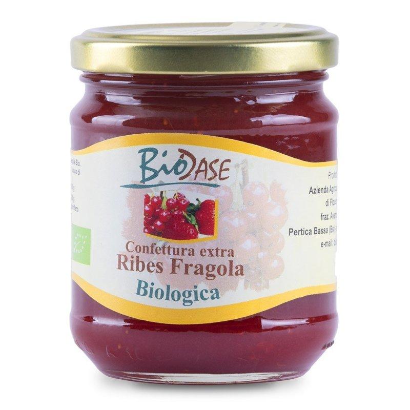 Confettura marmellata di Ribes e Fragola biologica BioDase