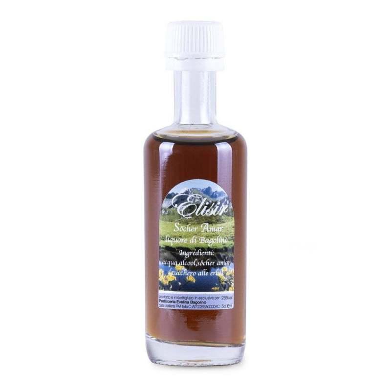 Cordialino di Elisir liquore fatto con erbe spontanee e zucchero amaro