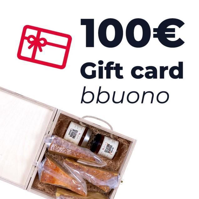 Gift card dal valore di 100 euro