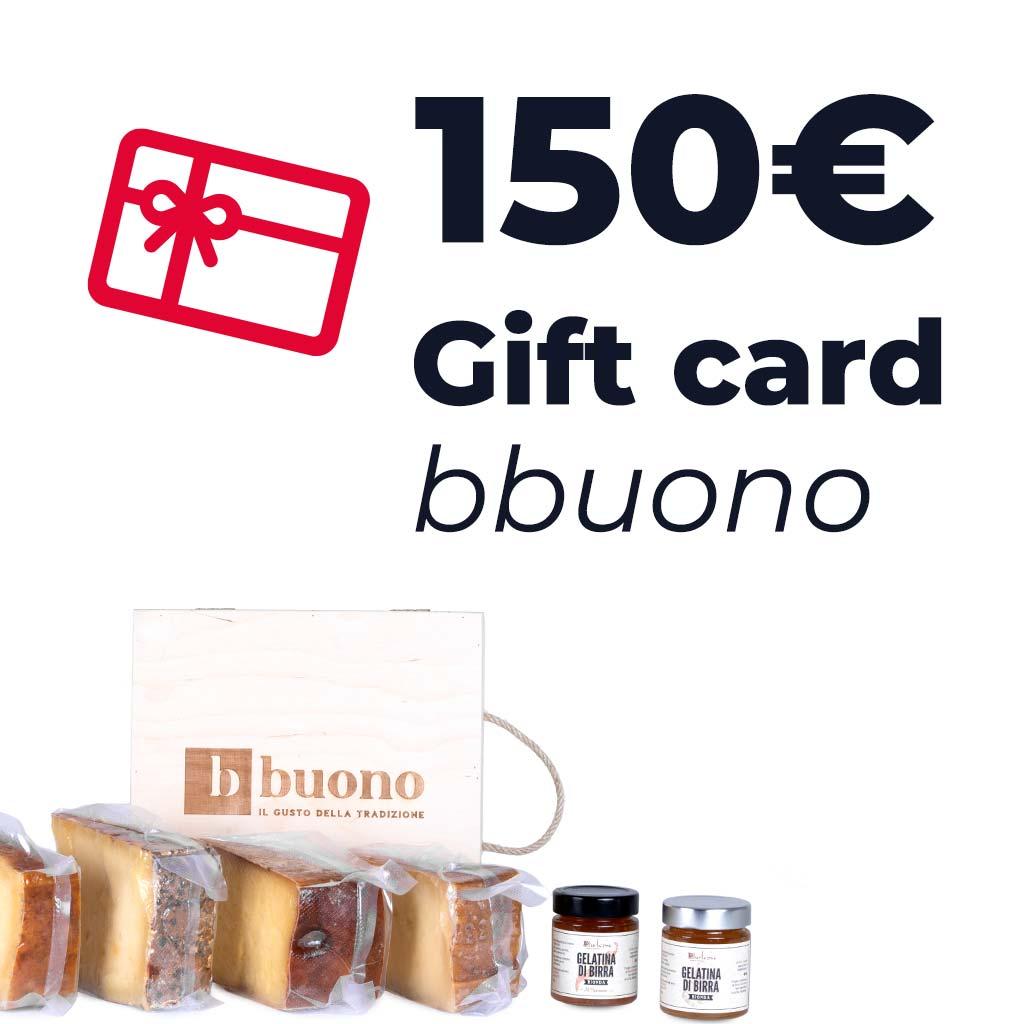 Gift card dal valore di 150 euro
