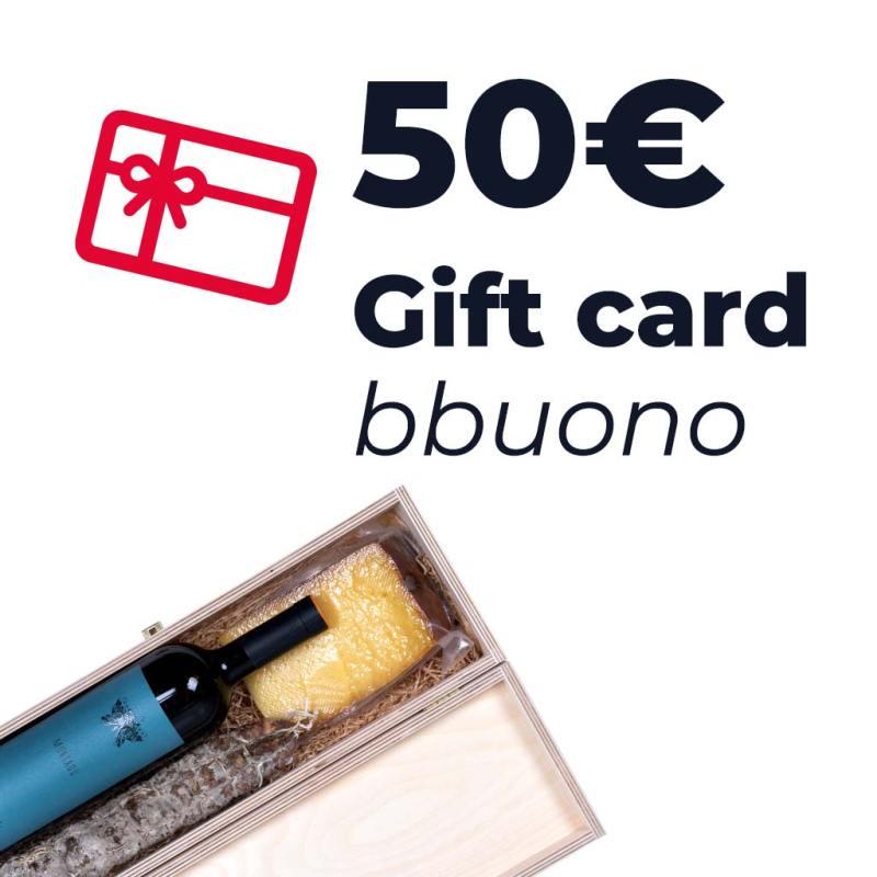 Gift card dal valore di 50 euro