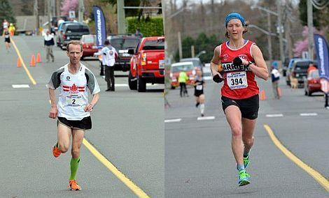 Harriers Craig Odermatt and Claire Morgan win Comox Valley RV Half Marathon