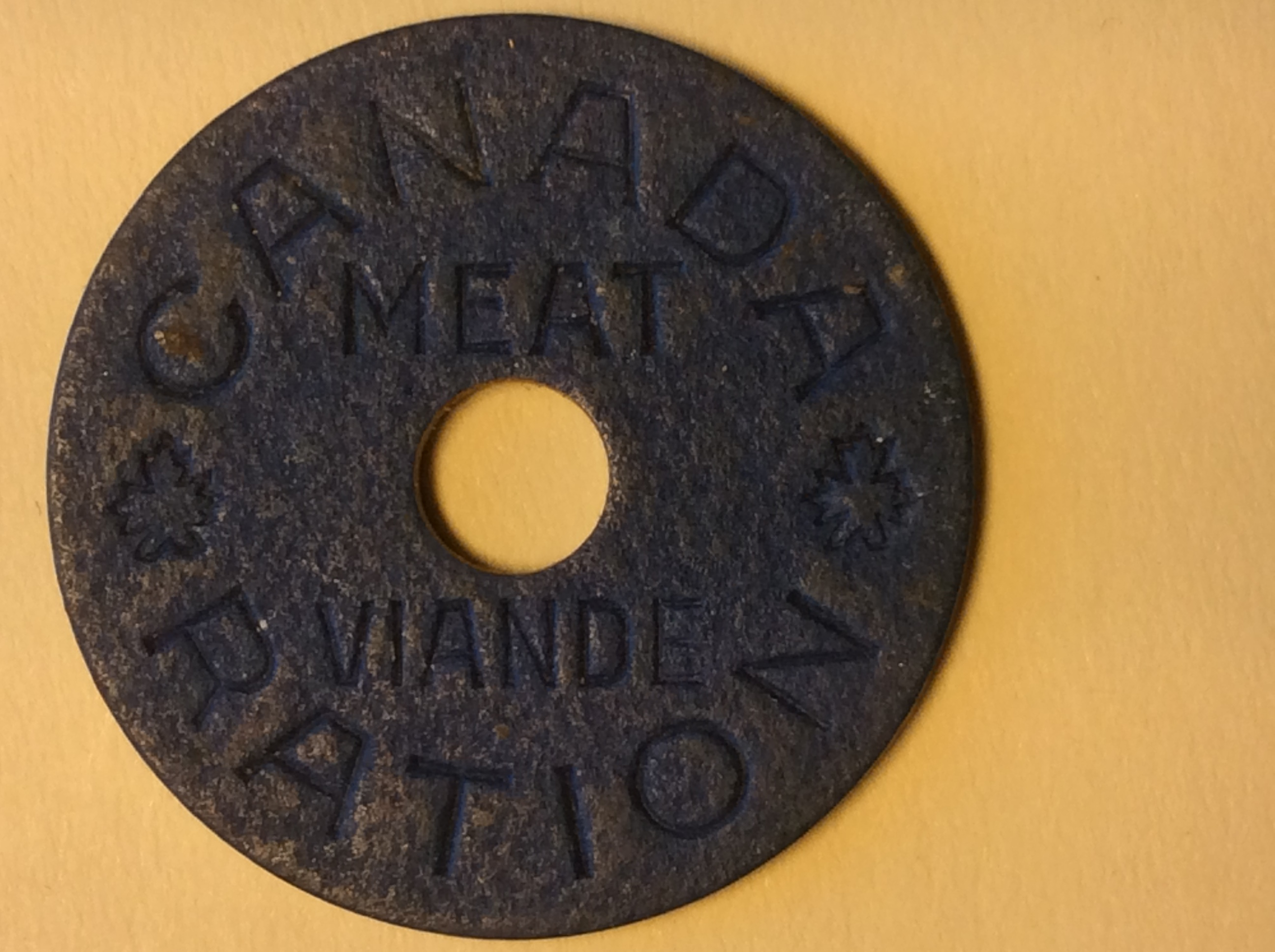 WWII Canadian Meat Token