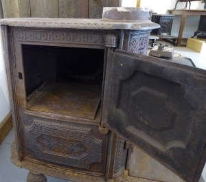 Small stove may be taken apart for transport
