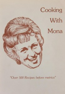 """Cover of """"Cooking with Mona"""" - Woodwards'"""