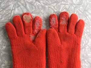 Photo of mended mitts