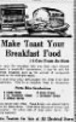"Advertisement ""Make Toast Your Breakfast Food"""