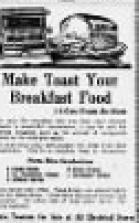 "Advertisement ""Make Toast Your Breakfast Food"""