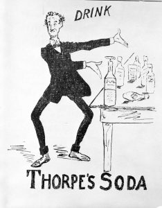 Advertisement for Thorpe's Soda BC Archives