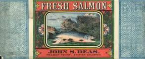 John S. Deas Salmon Can label