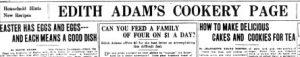 Edith Adams headline