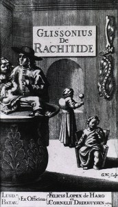 Rickets are portrayed in this line drawing from the middle ages (Image - Creative Commons)
