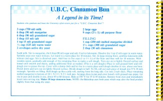 UBC CInnamon Bun recipe from Favourite Recipes from the UBC Bakeshop