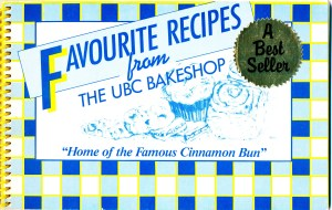 Cover of recipe book: Favourite recipes from the UBC Bakeshop