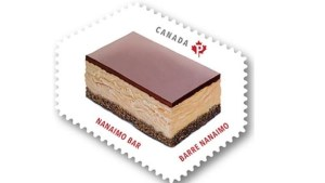 Canadian stamp featuring a Nanaimo bar