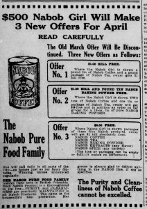 April 1916 Nabob offers