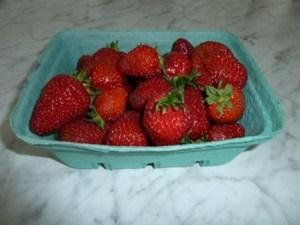 photo of dish of summer strawberries
